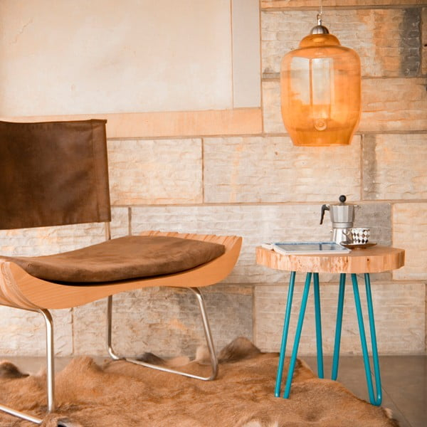 Odkládací stolek Coffee, tyrkysový