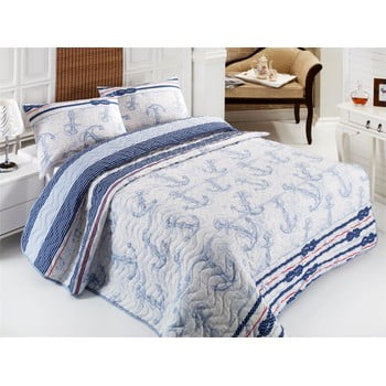 Set cuvertură și fețe de pernă Capa Light Blue, 200 x 220 cm de la Eponj Home