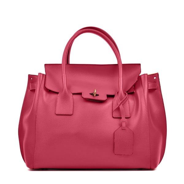 Červená kožená kabelka Luisa Vannini Mia