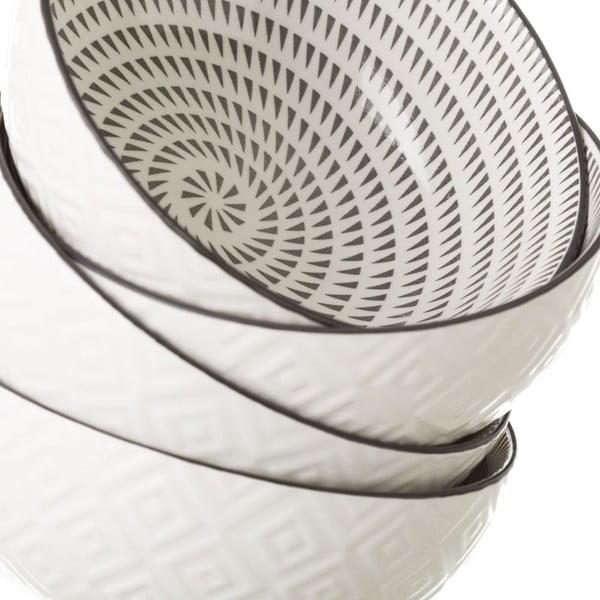Šedobílá porcelánová miska Unimasa Signal, Ø14,9cm