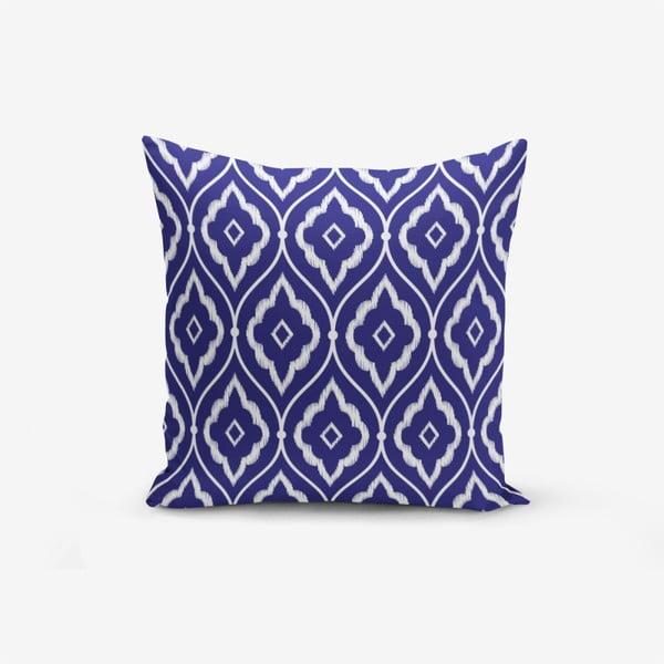 Față de pernă cu amestec din bumbac Minimalist Cushion Covers Blue Ethnic Modern, 45 x 45 cm