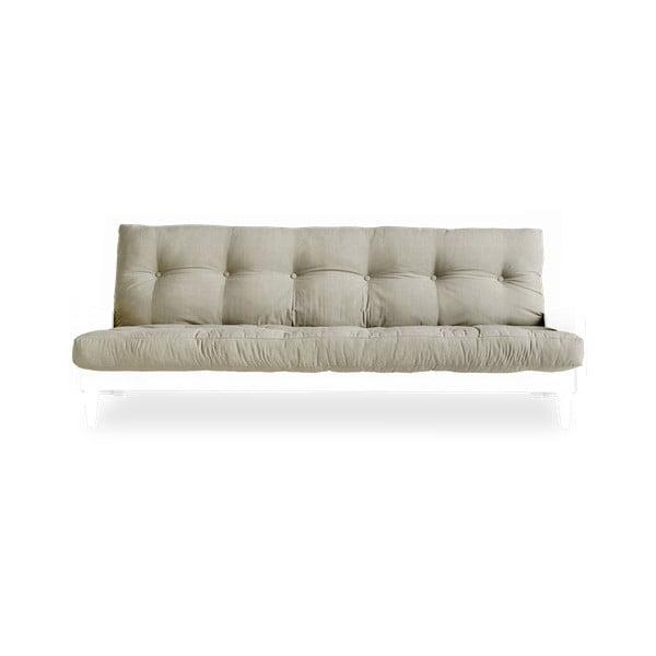 Indie White/Linen kinyitható kanapé - Karup Design
