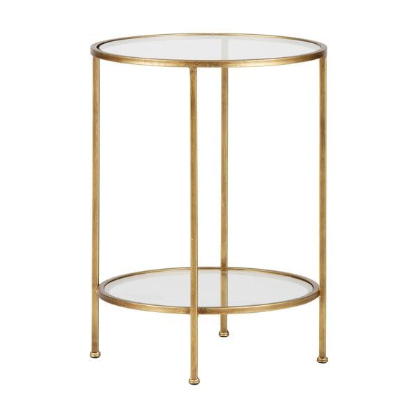 Mosazný odkládací stolek BePureHome Goddess, ⌀45,5cm