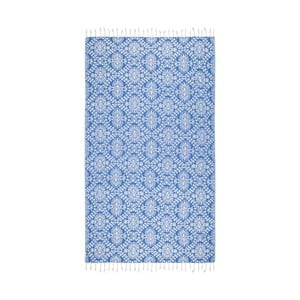 Prosop baie hammam Kate Louise Bianca, 165 x 100 cm, albastru