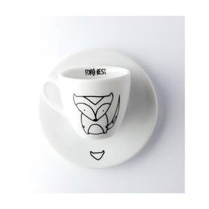 Ceașcă pentru espresso cu farfurie FOR.REST Design Fox,100ml