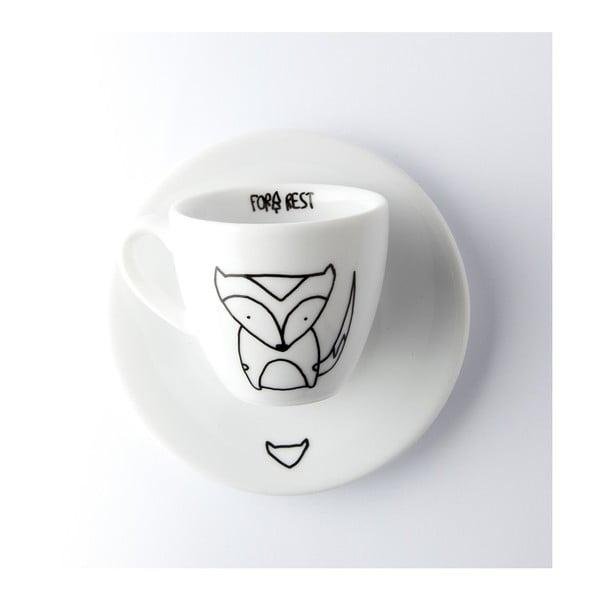 Fox presszókávés csésze és csészealj, 100 ml - FOR.REST Design