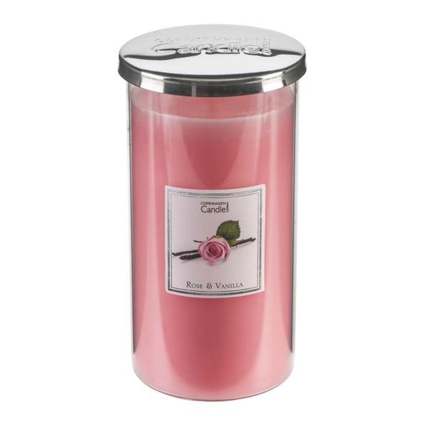 Aroma svíčka s vůní růží a vanilky Copenhagen Candles Talll, doba hoření 70 hodin