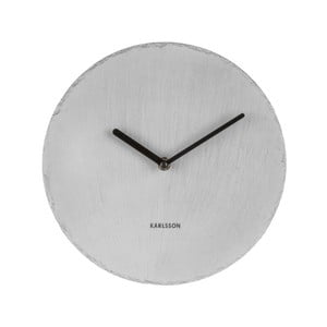 Šedé nástěnné hodiny Karlsson Slate, ⌀25 cm