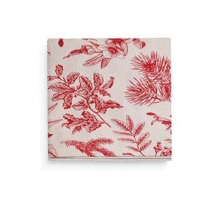 Sada 4 červených prostírání L'Officiel Interiors Chambord, 45 x 45 cm