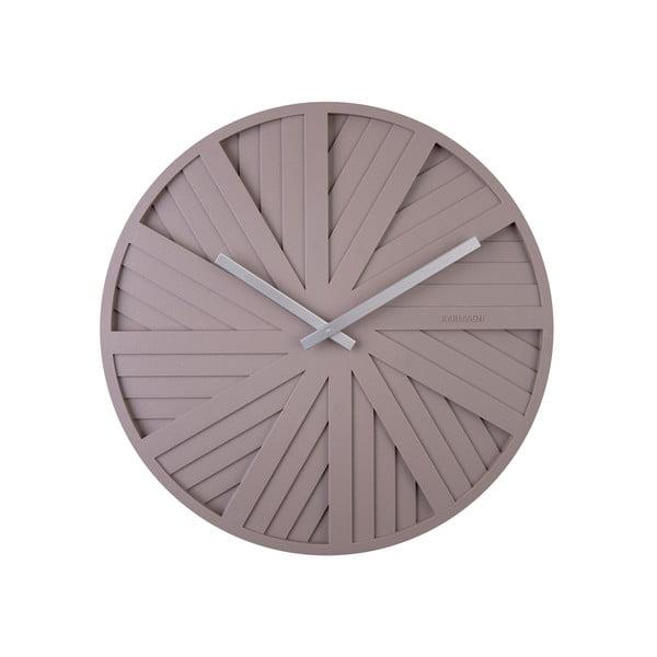 Szary zegar ścienny Karlsson Slides, ø 40 cm