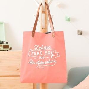 Bavlněná taška s koženými uchy Mr. Wonderful Let me take you