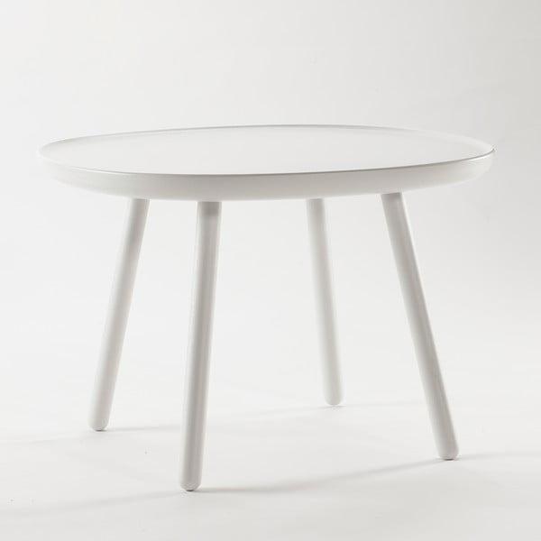 Bílý odkládací stolek z masivu EMKO Naïve Large