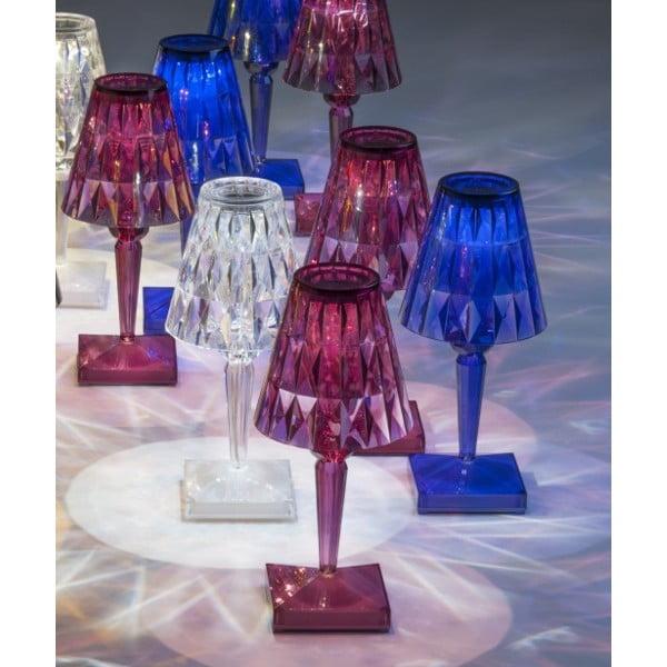 Růžová transparentní stolní lampa Kartell Battery