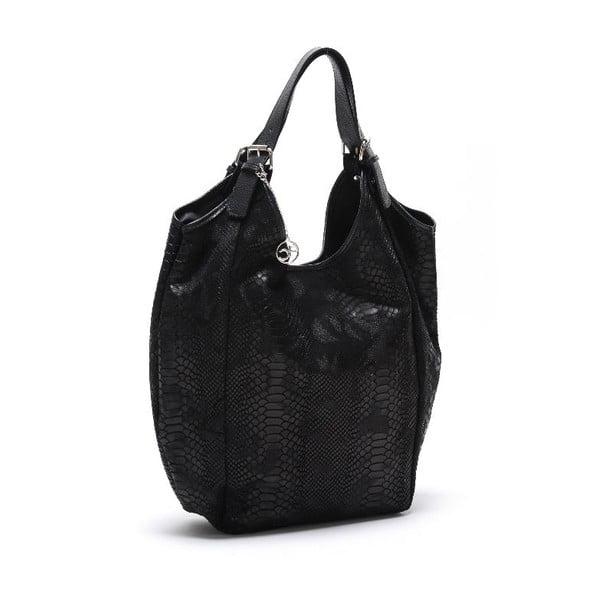 Kožená kabelka Fiopro, černá