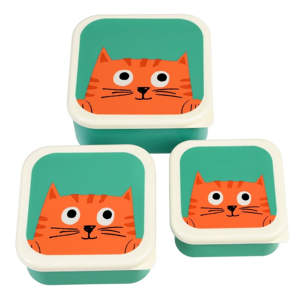 Sada 3 svačinových boxů Rex London Chester Cat