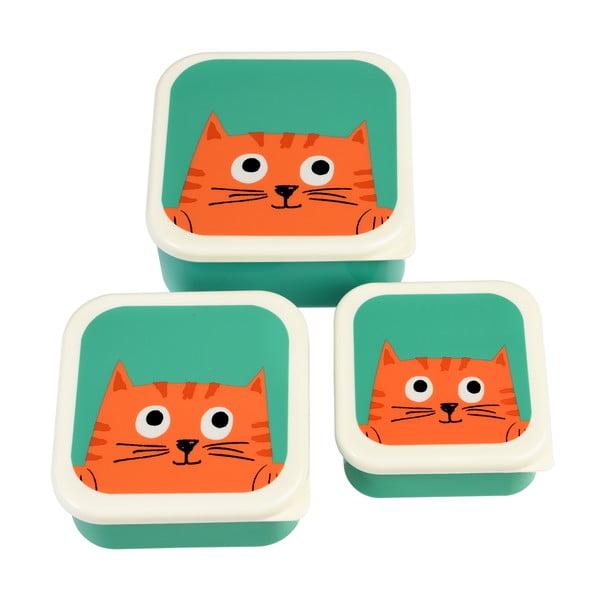 Zestaw 3 pojemników śniadaniwych Rex London Chester Cat