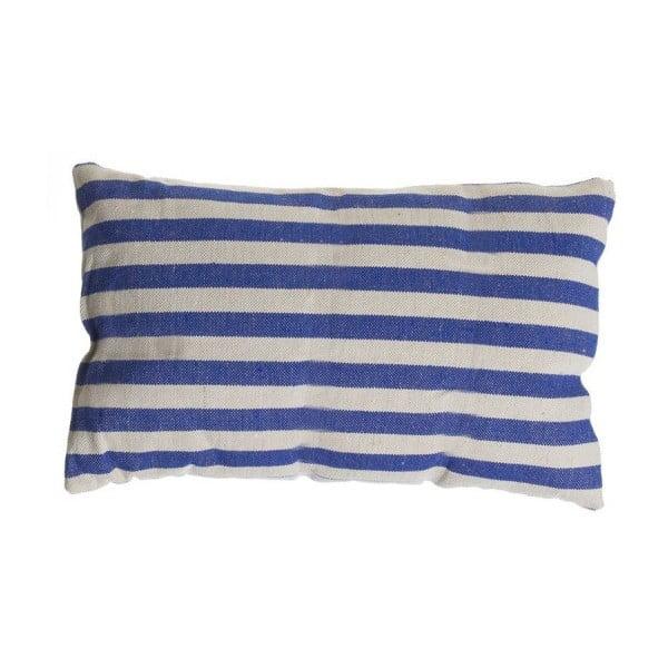 Polštářek Cosas de Casa Stripes, 30x50 cm, modrý