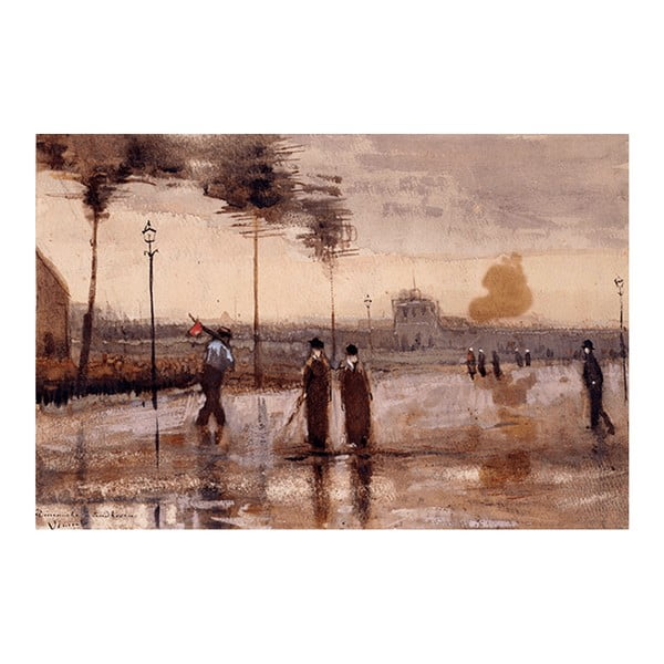 Obraz Vincenta van Gogha - A Sunday in Eidhoven, 90x60 cm
