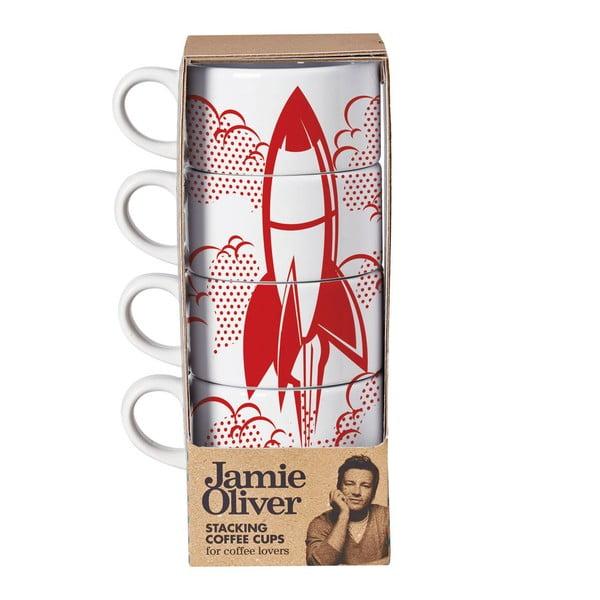 Sada 4 hrnků Jamie Oliver Rocket