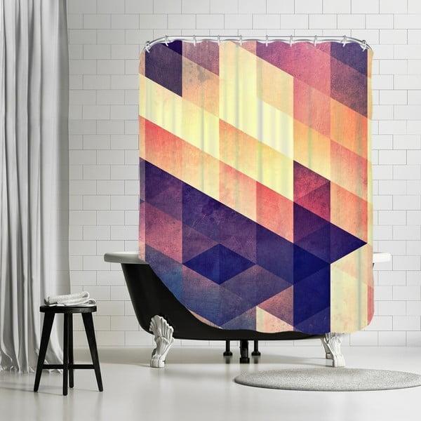 Koupelnový závěs Purple Way, 180x180 cm