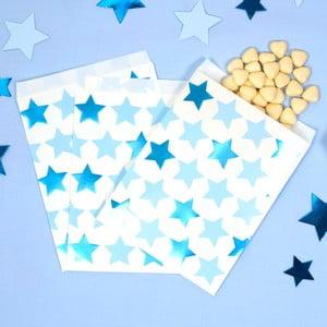 Sada 25 papírových pytlíků na sladkosti Neviti Little Star Blue
