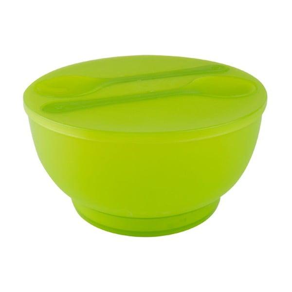 Salátová mísa s příborem PT KITCHEN Green Ball