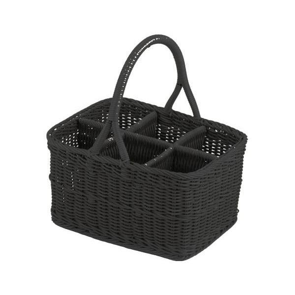 Košík Flaschenkorb Black, 38x29x20 cm