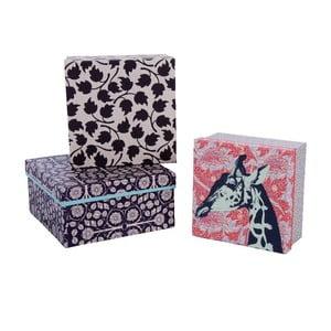 Sada 3 úložných krabic Lovely