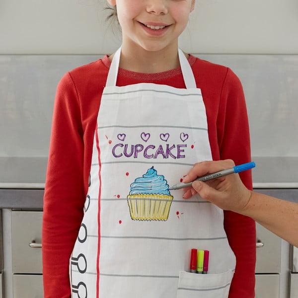 Dětská zástěra k vymalování Doodle