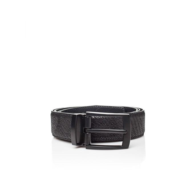 Černý kožený pánský pásek Ferruccio Laconi Thor, délka 90 cm