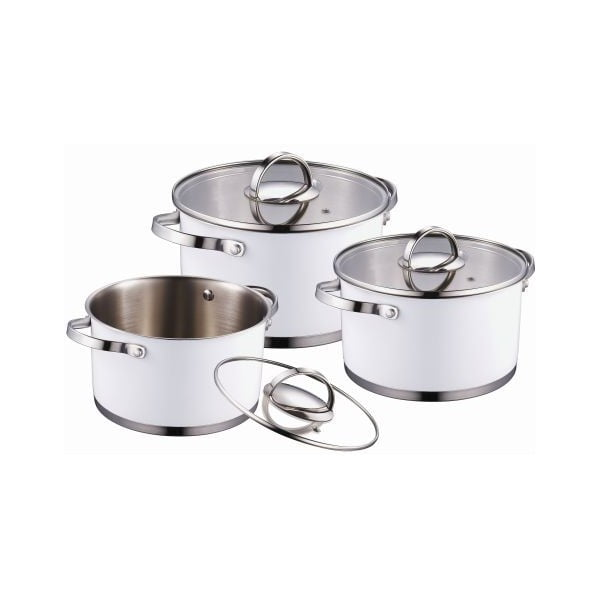 Set Cookware White, 6 ks