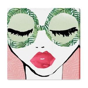 Obraz Oliver Gal Plant Lady Glasses, 40x40cm