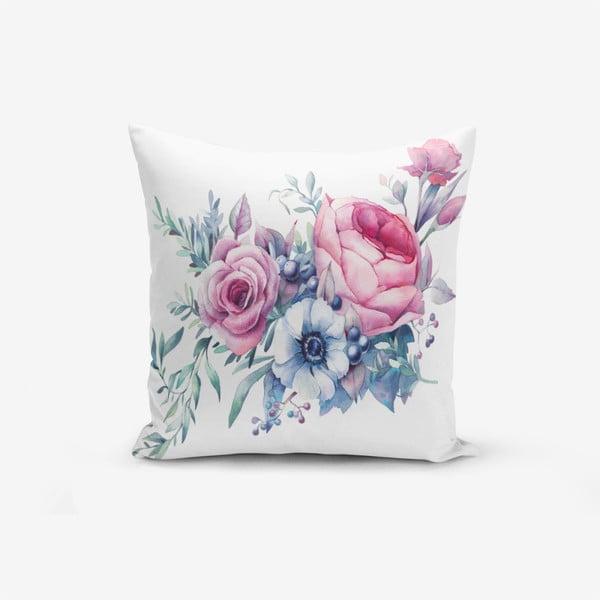 Față de pernă cu amestec din bumbac Minimalist Cushion Covers Liandnse Special Design Flower, 45 x 45 cm