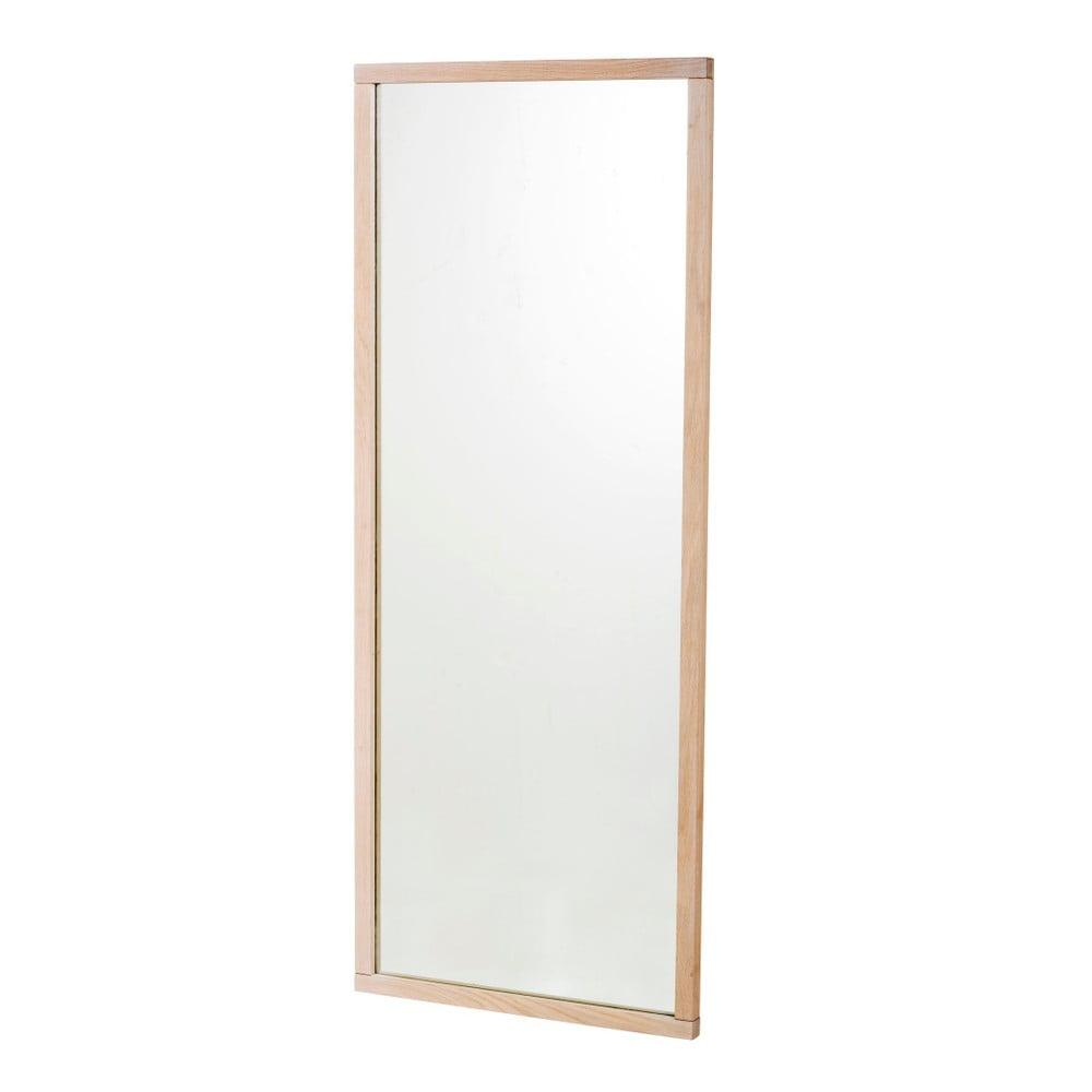 Nástěnné zrcadlo s rámem z běleného dubového dřeva Rowico Gefjun
