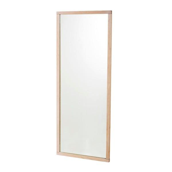 Oglindă de perete cu ramă mată din lemn alb de stejar Rowico Gefjun