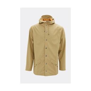 Béžová unisex bunda s vysokou voděodolností Rains Jacket, velikost L/XL