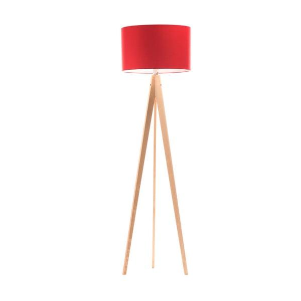 Stojací lampa Artist Red/Birch, 125x42 cm