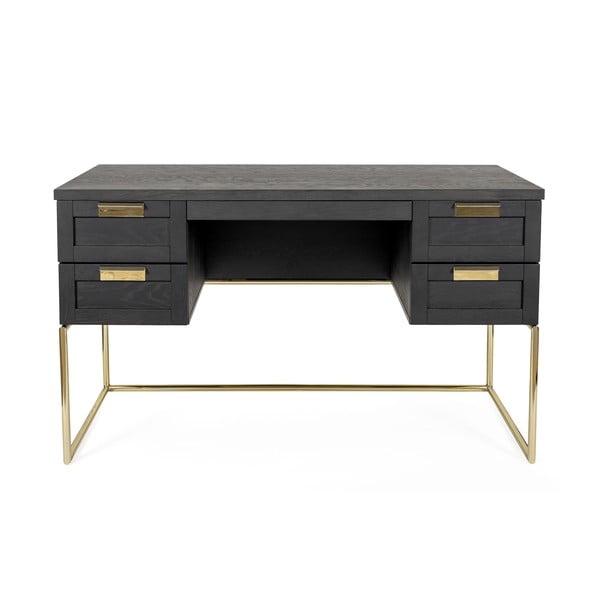 Tmavosivý pracovný stôl Woodman Pimlico Desk