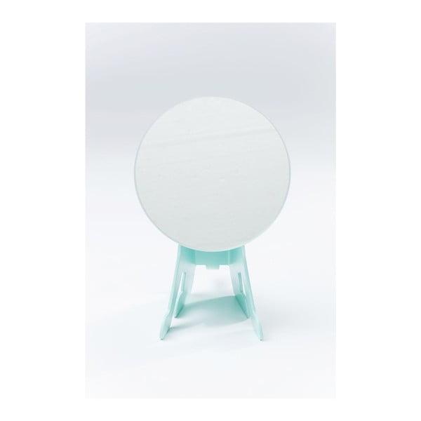 Oglindă pentru masă Kare Design Dog, albastru mentă