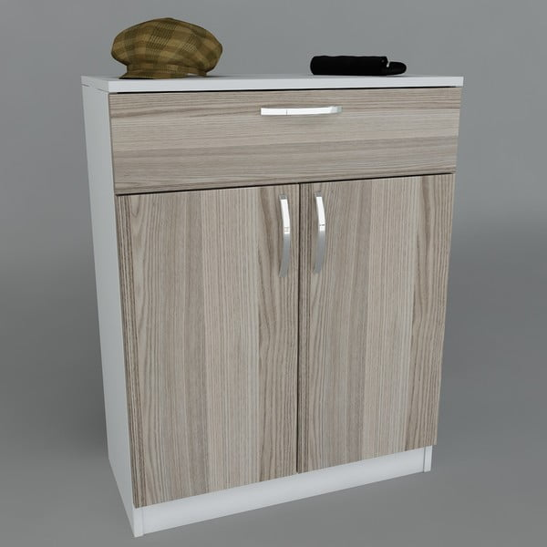 Botník Corking White/Cordoba, 70x90x35,3 cm