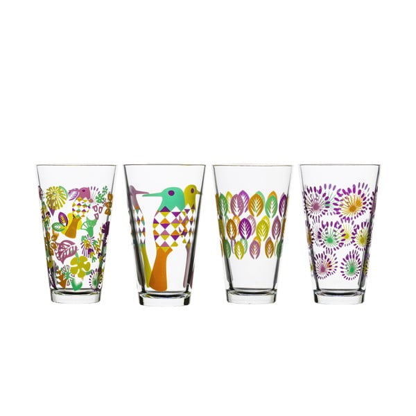 Set de 4 pahare Sagaform Fantasy 300 ml, mov