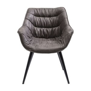 Tmavě šedá židle Kare Design Armlehnstuhl