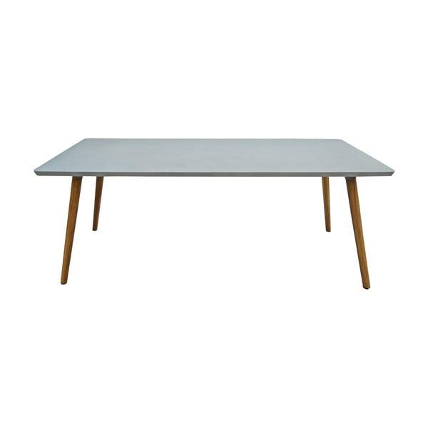Zahradní betonový rozkládací stůl s dřevěným podnožím Ezeis Clipper, délka 200 cm