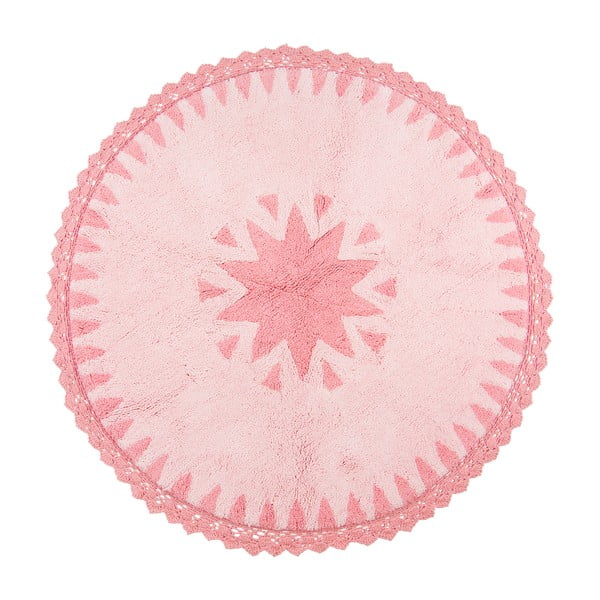 Detský ružový koberec Nattiot Warren, Ø110cm