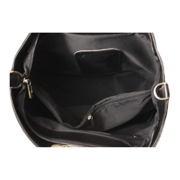 Černá kožená kabelka Gia