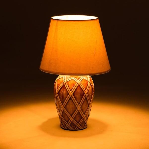 Keramická stolní lampa Brown