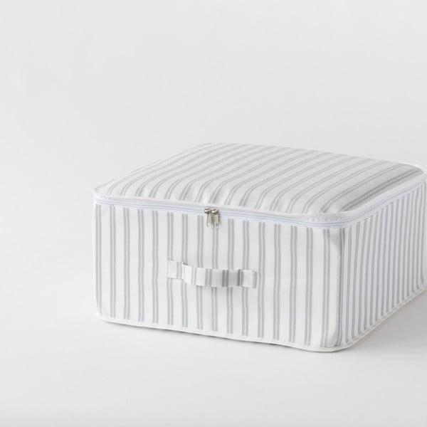 Béžový úložný box Compactor Stripes, 45 x 46 cm
