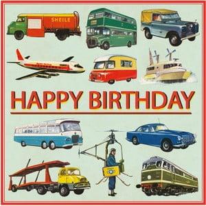 Narozeninové přání s obálkou Rex London Vintage Transport