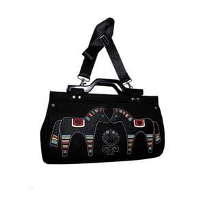 Plstěná vyšívaná kabelka Goddess Black