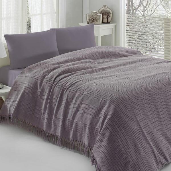 Cuvertură subțire pentru pat Pique Purple, 220 x 240 cm